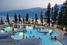 """""""Halcyon Hot Springs Resort, north of Nakusp. Photo courtesy of Halcyon Hot Springs"""" Oh The Places You'll Go, Places To Travel, Places To Visit, Dream Vacations, Vacation Spots, Ottawa, Voyage Canada, Canadian Travel, Canadian Rockies"""