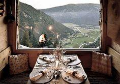 mountain chalet in the villiage created by Almdorf Seinerzeit in Austrian Alps.