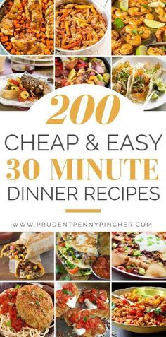 Need a quick and easy dinner 30 minute meals are perfect for busy days when you dont have time to cook You can whip up delicious meals in under 30 minutes with. Cheap 30 Minute Meals, 30 Minute Dinners, Cheap Dinners, Cheap Simple Meals, Inexpensive Meals, Quick Healthy Meals, Quick Dinner Recipes, Delicious Meals, Healthy Recipes