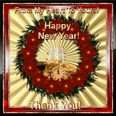 New Year/Thank You section. Send this New Year thank you ecard to anyone to show your appreciation. Permalink : http://www.123greetings.com/events/new_year/thank_you/from_my_heart_to_yours_21.html
