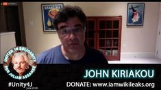 Whistle Blower John Kiriakou - - Online Vigil in support of Julian Assange, June 2018 The Unit, Fictional Characters, Fantasy Characters