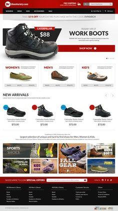 Footwear Store Website Design Contest - Winner Guaranteed by sisdesign