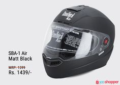 #Helmet Steelbird Helmet-SBA-1 Air-Matt Black #bikers Order now from www.yooshopper.com,http://bit.ly/2nhyttT