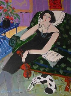 Lady and Her Cat by George Hamilton - Zantman Art Galleries - Fine art gallery in Carmel, CA George Hamilton, Fine Art Gallery, Galleries, Cats, Artist, Anime, Gatos, Art Gallery, Artists