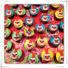 Jokie cupcakes - Royal icing - marsepein - efteling