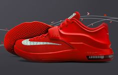 "competitive price 7cd60 cf7d1 Nike KD 7 ""Global Game"" Action Red Metallic Silver Sneaker (Official Images  + Release Date)"