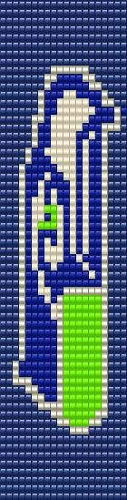 Viki's Seahawks Pattern for the Bead Loom.