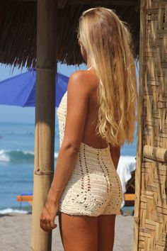 Crochet short playsuit beach crochet short suit by EllennJames