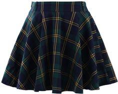 #Chic wish                #Skirt                    #Green #Plaid #Check #Skater #Skirt                 Green Plaid Check Skater Skirt                                                http://www.seapai.com/product.aspx?PID=1005365
