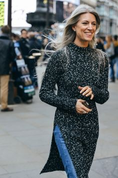 Salt and Pepper knit with jeans