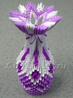 Ваза Origami And Quilling, Origami Paper Art, Diy Origami, Paper Quilling, 3d Origami Tutorial, Origami Techniques, Diy And Crafts, Paper Crafts, Modular Origami