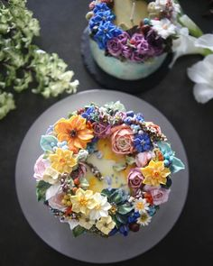 The Seoul-Based Pastry Chef Creates Buttercream Floral Cakes That Look Too Beautiful To Eat Cake The Seoul-Based Pastry Chef Creates Buttercream Floral Cakes That Look Too Beautiful To Eat Gorgeous Cakes, Pretty Cakes, Amazing Cakes, Dessert Design, Dessert Decoration, Flowers Decoration, Decorations, Bolo Floral, Floral Cake