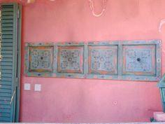 Puerta pintada por Pilar Recarte