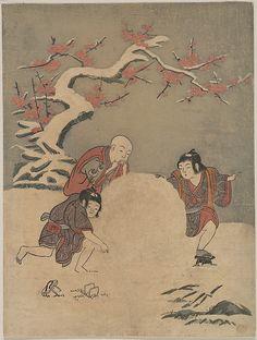 Suzuki Harunobu (Japanese, 1725–1770). The Snow Ball, 1770. The Metropolitan Museum of Art, New York. Rogers Fund, 1921 (JP1223).