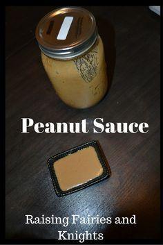 Peanut Sauce - easy and tasty peanut sauce recipe.