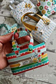 cherry on top designer series paper - mini tote bags with video tutorial