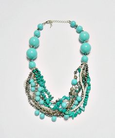 Maxi Colar - Turquoise by Betsy Boutique