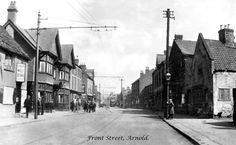 Horse and Jockey, Front Street, Arnold, Nottingham, Nottingham Pubs, Arnold Photos, Old Pictures, The Past, Public, Horses, In This Moment, Family History, Street