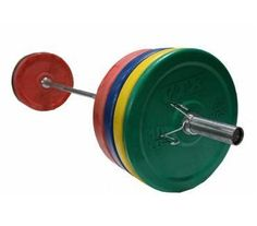 Troy VTX 350lb Colored Olympic Rubber Bumper Plates Weight Bar and Bumper Set for Crossfit with Spring Collars Free Shipping -- You can get more details by clicking on the image.