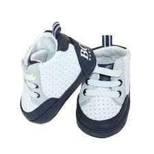 Boss Baby Boy White Leather Trainer