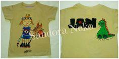 Camiseta pintada a mano, artesanía textil, ilustración. https:// www.facebook.com / sandoranekoneko