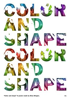 Color and Shape | Fonts Inspirations | The Design Inspiration