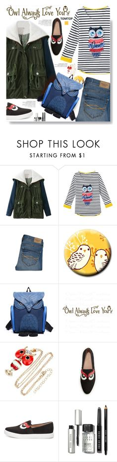 """""""Tomtop.com: Owl Always Love you!"""" by hamaly ❤ liked on Polyvore featuring Abercrombie & Fitch, Kate Spade, Bobbi Brown Cosmetics, vintage, women's clothing, women, female, woman, misses and juniors"""