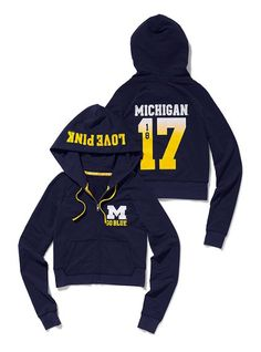 Victoria's Secret PINK University of Michigan Shrunken Zip Hoodie #VictoriasSecret http://www.victoriassecret.com/pink/university-of-michigan/university-of-michigan-shrunken-zip-hoodie-victorias-secret-pink?ProductID=61556=OLS?cm_mmc=pinterest-_-product-_-x-_-x