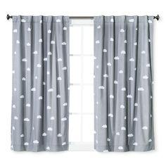 Cloud Print Twill Light Blocking Curtain Panel -... : Target