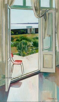 Таир Салахов - «Утренняя веранда», 1980 Soviet Art, Porch, Furniture, Home Decor, Terrace, Homemade Home Decor, Patio, Pouch, Home Furnishings