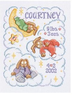 Heaven Sent Birth Announcement - Cross Stitch Kit
