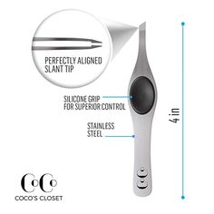 Coco's Closet Tweezers for Eyebrows - Surgical grade Stainless Steel Slant Silver Tweezer - Precision for Ingrown Hair Removal Ingrown Hair Removal, Ingrown Hairs, Unwanted Facial, Unwanted Hair, Natural Eyebrows, Thick Eyebrows, Best Tweezers, Eyebrow Growth