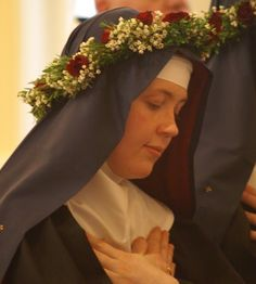 A Benedictine sister making her profession of perpetual vows