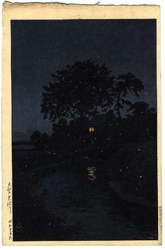 Hasui Kawase  'Omiya Minumagawa', 1930