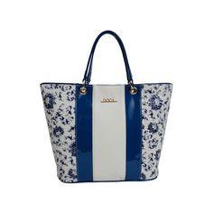 Καθημερινή τσάντα μπλε-άσπρη Tote Bag, Bags, Fashion, Handbags, Moda, Fashion Styles, Carry Bag, Taschen, Tote Bags