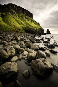 Talisker Bay, Isle of Skye, Scotland - The green in Ireland and Scotland is its own unique color of green.  I love it.