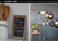 Unidentified Lifestyle by Maria Matiopoulou: DIY Monday : Chalkboard paint in the kitchen