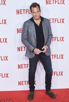 Spreading the news: Will Arnett brought his rugged appeal to Madrid where he promoted his upcoming Netflix comedy Flaked