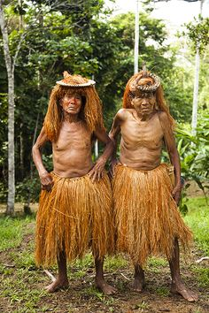 Elders from the Yagua tribe in traditional dress. The Amazon jungle of Peru.  Photo by Alicia Fox Photography 2012