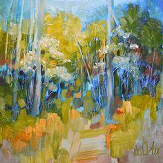 Dogwood Trail by Judy Wilder Dalton Oil ~ 12 x 12