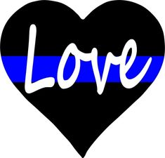 "thin blue line ""Love"" heart"