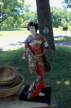 Nishi Geisha Doll Mid Century Japan Figural by AntiquesandVaria