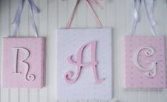 Wall Letters Monogram Shabby Chic Nursery Decor by fabbdesigns, $63.00