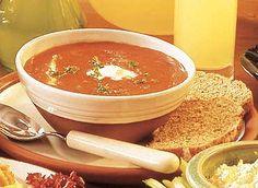 Recetas para adelgazar : Crema de Tomate a la Albahaca.