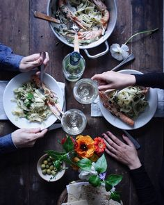 Tagliatelle asparagi e scampi  - Asparagus and scampo tagliatelle -