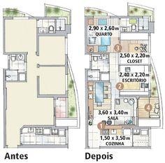 decoração para apartamentos pequenos 60m2 - Pesquisa Google