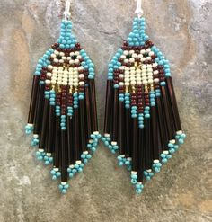 HANDBEADED IN TENNESSEE 2.5 Long STERLING SILVER PLATED EARWIRES WITH BACKS    2.90 FIRST CLASS SHIPPING ALL OF MY BEADED JEWELRY IS GUARANTEED OR YOUR MONEY BACK! PACKAGED WITH CARE MADE IN TENNESSEE in a smoke free home
