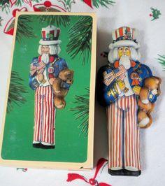 Hallmark ornament Tin Uncle Sam