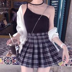 New style korean fashion casual seoul 44 Ideas Edgy Outfits, Korean Outfits, Grunge Outfits, Dress Outfits, Fashion Outfits, Korean Clothes, Plaid Skirt Outfits, Fashion Ideas, Fashion Shirts