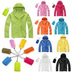 Men Women Wind Coat Windproof Waterproof Raincoat Outwear Jacket